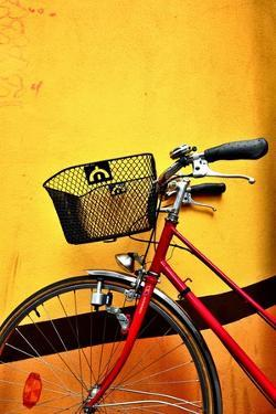 Red Bike and Yellow Wall by See me on Flickr account-metal543