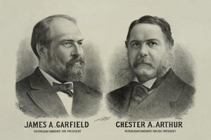 James A. Garfield and Chester A. Arthur - Republican Candidates for President and Vice President by Seer's Lithograph Co