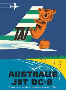Australia (Australie) - TAI (Transports Aérien Internationaux) - Douglas Jet DC-8 - Koala Bear by Seguin