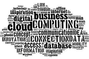 Cloud Computing Pictogram On White Background by seiksoon