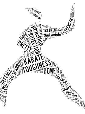Karate Pictogram On White Background by seiksoon