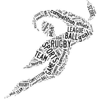 Rugby Football Pictogram With Black Wordings by seiksoon