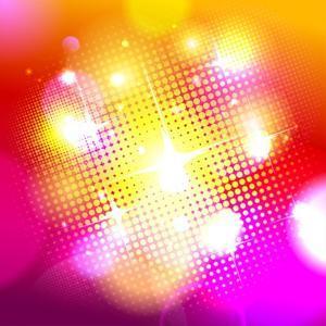 Bokeh Background with Pop-Art Dots by Selenka