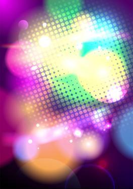 Bright Pop-Art Bokeh Background by Selenka