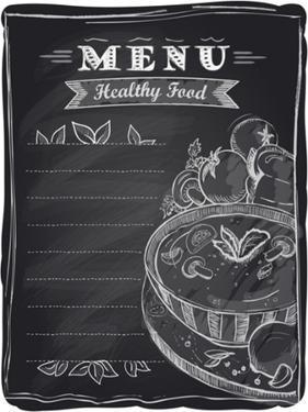 Chalk Healthy Food Menu by Selenka