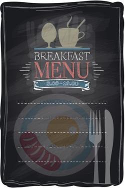Vintage Chalk Breakfast Menu by Selenka