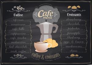 Vintage Chalk Coffee and Croissants Menu by Selenka