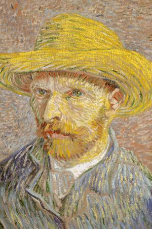 Self Portrait with Straw Hat 1887 Vincent Van Gogh