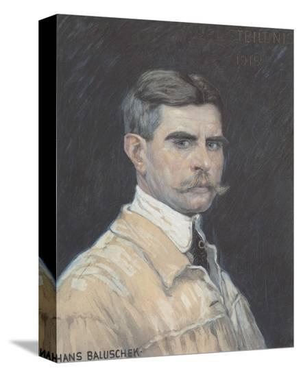 Self Portrait-Hans Baluschek-Stretched Canvas