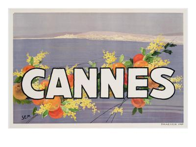 Advertisement for Cannes, Printed by Draeger, 1930 (Colour Litho)