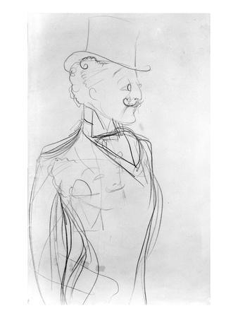 Portrait of Boni De Castellane (Pencil on Paper)