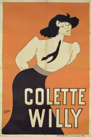 Poster Depicting Colette Willy (1873-1954)