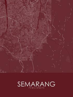 Semarang, Indonesia Red Map