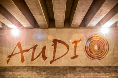 The Word Audio with Bass Speaker as Graffiti by Semmick Photo