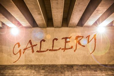The Word Gallery Painted as Graffiti by Semmick Photo