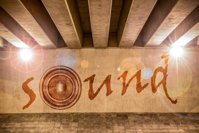 The Word Sound with Bass Speaker as Graffiti by Semmick Photo