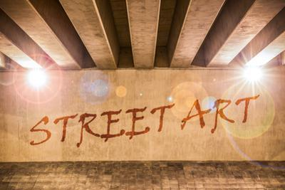 The Words Street Art Painted as Graffiti by Semmick Photo