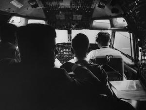 Sen. John F. Kennedy with His Staff on His Presidential Campaign Plane