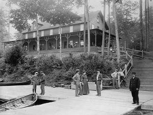 Boaters at Lake Lodge by Seneca Ray Stoddard