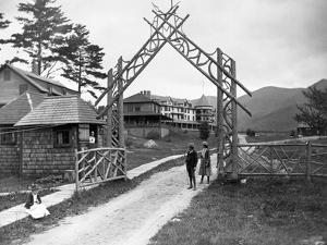 Wooden Gate at Resort by Seneca Ray Stoddard