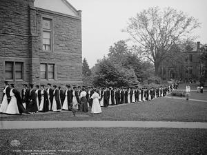 Seniors Marching to Chapel, Mt. Holyoke College, South Hadley, Massachusetts, C.1908