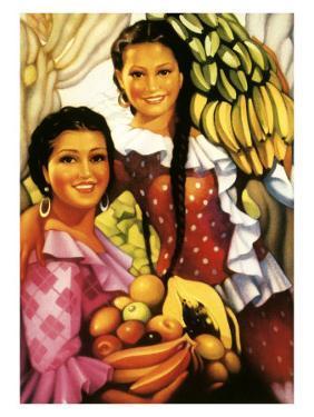 Señorita with Bananas