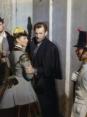 SENSO, 1954 directed by LUCHINO VISCONTI Alida Valli and Massimo Girotti (photo)