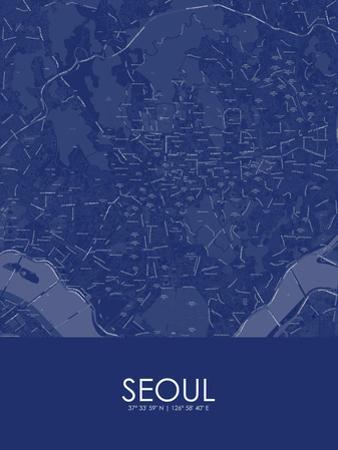 Seoul, Korea, Republic of Blue Map