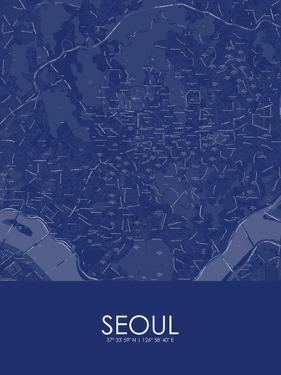 Seoul, Korea, Republic of Blue Map