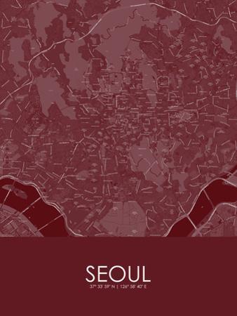 Seoul, Korea, Republic of Red Map