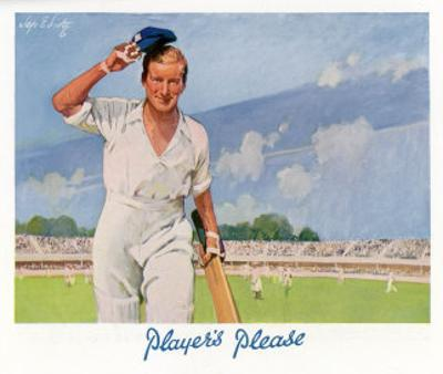 Cricket Player Raises His Cap as He Retires from the Pitch by Septimus Scott