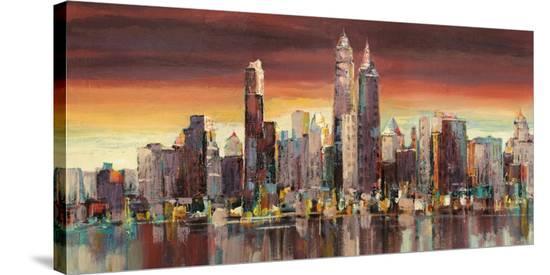Sera su New York-Luigi Florio-Stretched Canvas Print