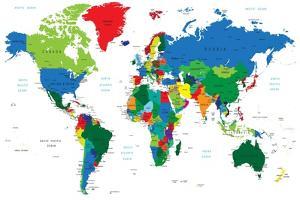 World Map-Countries by Serban Bogdan