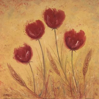Red Tulips and Wheat