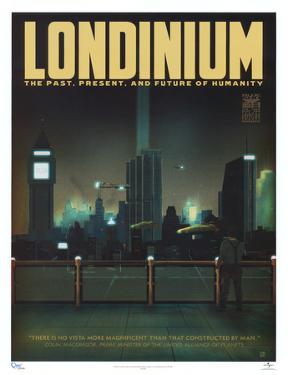 Serenity Movie Blue Sun Londinium Travel Poster Print
