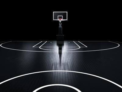 Basketball Court. Photorealistic 3D Illustration of a Sport Arena Background by Serg Klyosov
