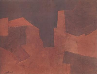 Abstract Composition, Maroon by Serge Poliakoff
