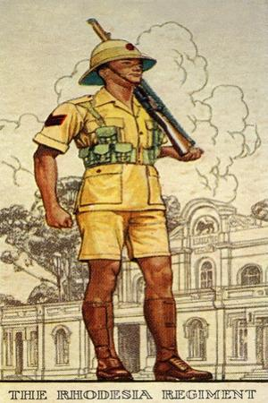 Sergeant of the Rhodesia Regiment in Drill Order, 1938