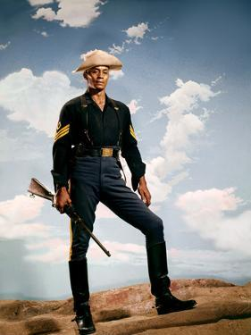 SERGEANT RUTLEGE directed by JohnFord with Woody Stroder, 1960 (photo)