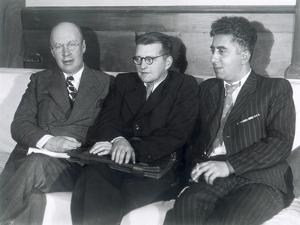 Sergei Prokofiev, Dmitri Shostakovich and Aram Khachaturian, Russian Composers, 1945