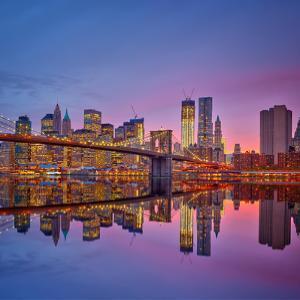 Manhattan at Dusk by Sergey Borisov