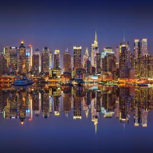 Manhattan at Night by Sergey Borisov
