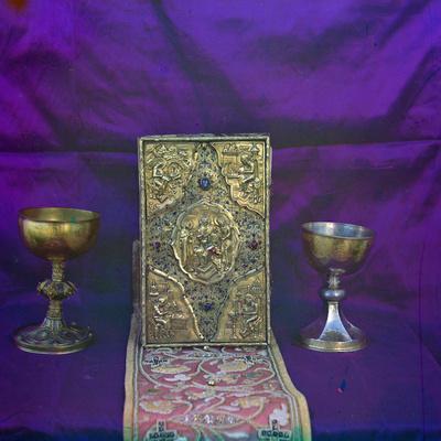 Gospel of Tsar Alexei Mikhailovich and the Sacramental Vessels of Of Tsar Mikhail Feodorovich, 1911