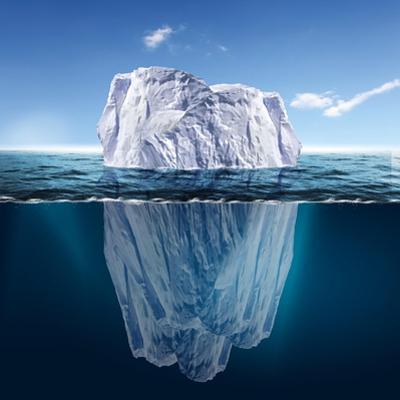 Antarctic Iceberg in the Ocean. Beautiful Polar Sea Background. by Sergey Nivens