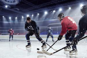 Hockey Match at Rink . Mixed Media by Sergey Nivens