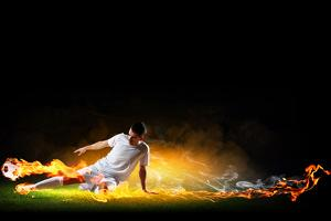 Image of Football Player in White Shirt by Sergey Nivens