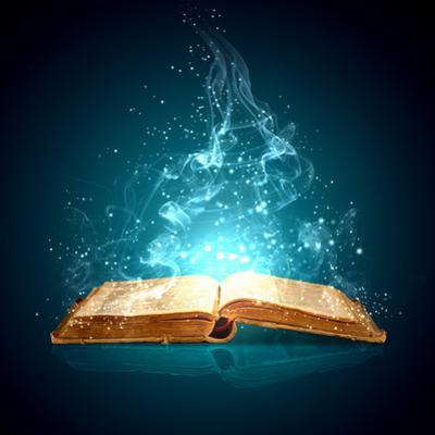 Image of Opened Magic Book with Magic Lights by Sergey Nivens