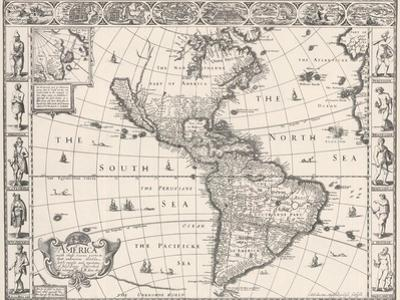 1626 Antique Map Of North And South America