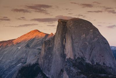 Half Dome at Sunset in Yosemite National Park in California's Sierra Nevada Mountain Range