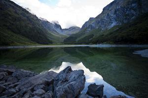 Lake Mackenzie on the Routeburn Trak in New Zealand's South Island by Sergio Ballivian
